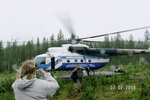 Восьмерочка готовится на взлет. Helicopter Mi-8 prepares to flight.