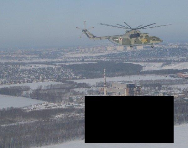 Как вертолет самолет перевозил