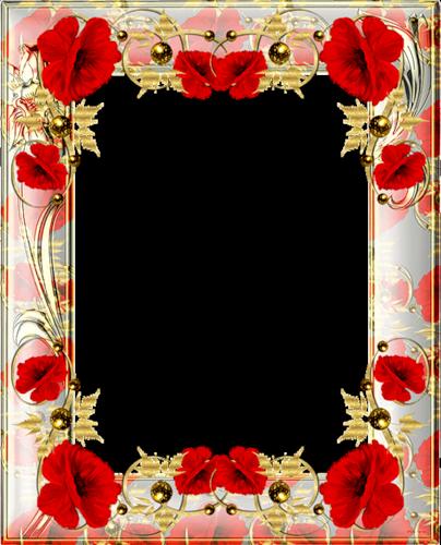 Оформление в рамку цветами
