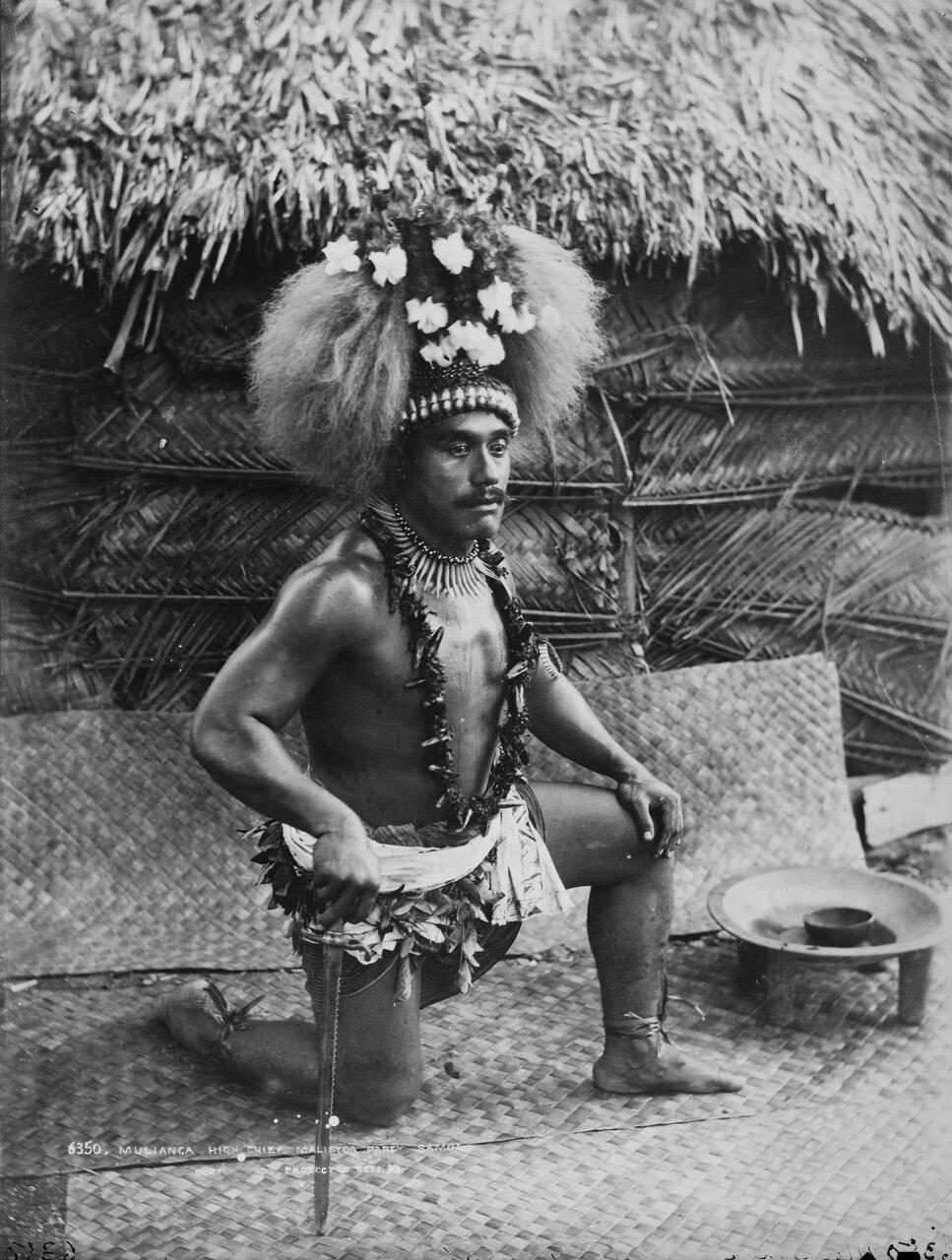 Малианга, верховный вождь Малиетоайской группы, Самоа 1890-е
