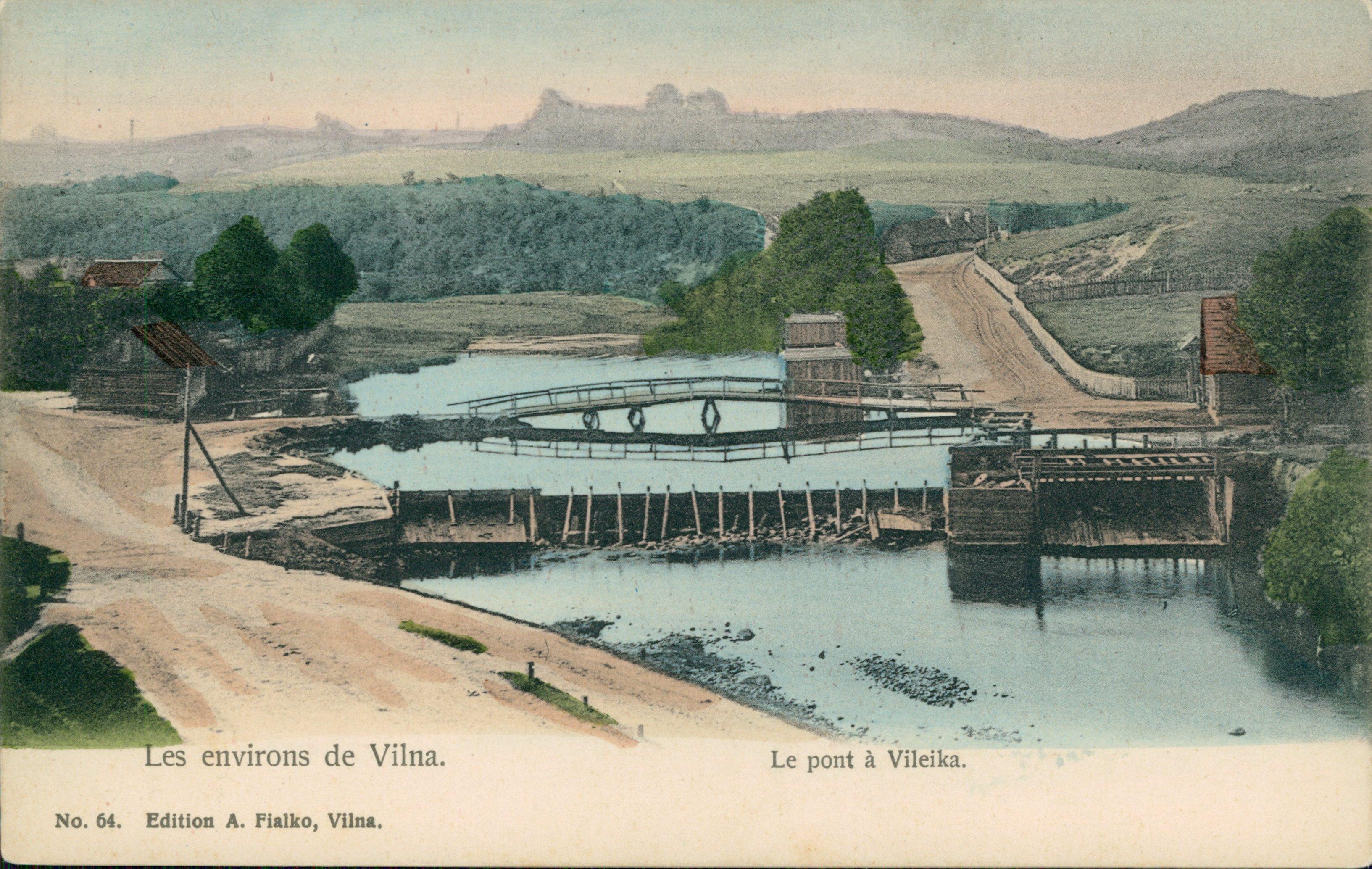 Окрестности Вильно, мост через Вилейку