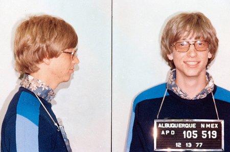 Билл Гейтс, арест за превышение скорости, 1977 г., фото