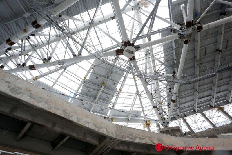 Строительство стадиона «Спартак». Январь 2014 (Фото)