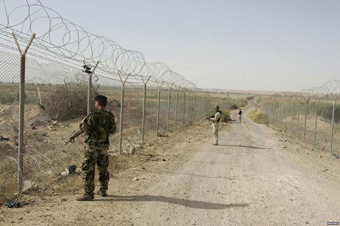 Граница между Ираком и Сирией