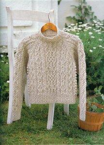 Ирландия+Япония=Совершенство аранов - свитер спицами