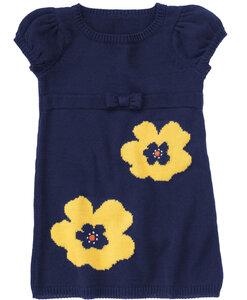 Села пчелка на цветочек-платье и жакет спицами