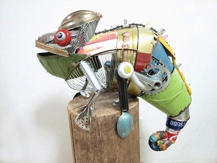 Что можно сделать из мусора? - скульптуры