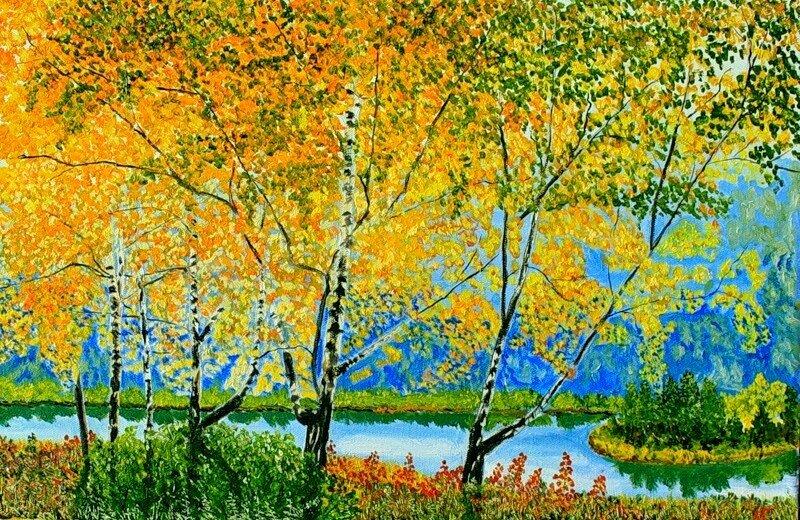 Уйская долина. Осень