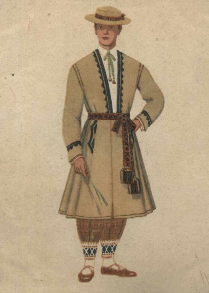 мужской литовский народный костюм