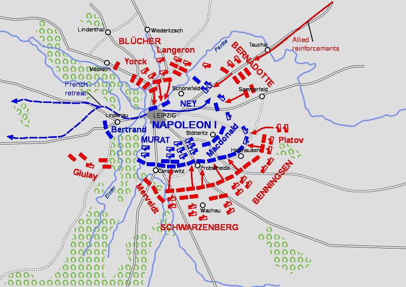 Битва при Лейпциге, 18 октября