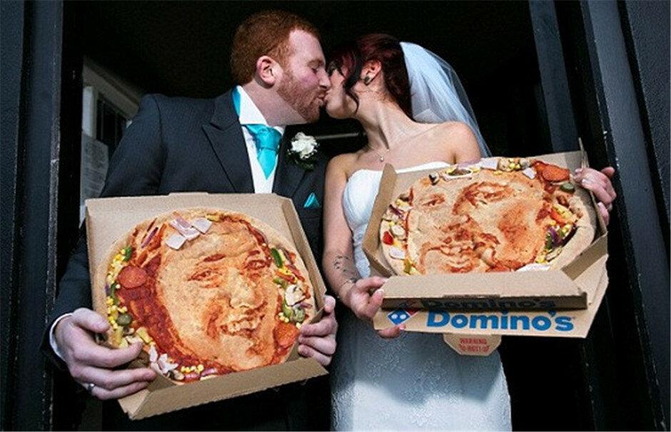 свадьба пицца англия