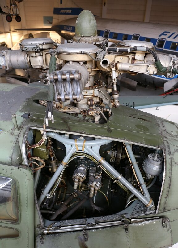 Mil Mi-4A helicopter. Main reduction gear (Finnish aviation Museum in Vantaa)