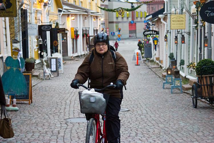 Туристическая пешеходная улица Порвоо.