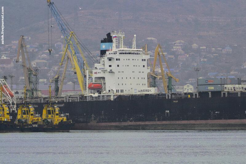 MAERSK DELANO. Порт Новороссийск, 17 января 2014.