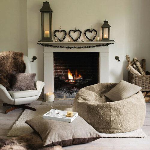 Зимний интерьер.Теплый и уютный