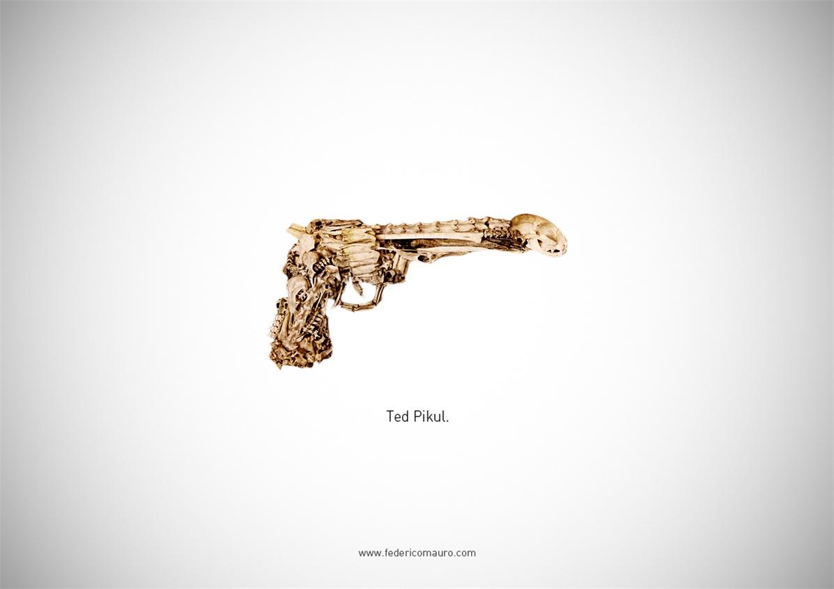 Знаменитые пушки - оружие культовых персонажей / Famous Guns by Federico Mauro - Ted Pikul (ExistenZ)