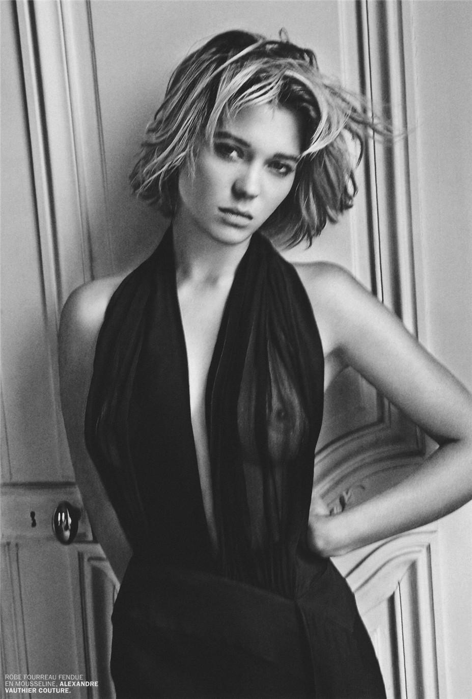 Эротические фотографии французской актрисы Леа Сейду / Lea Seydoux by Mario Sorrenti for Lui Magazine No.1 september 2013