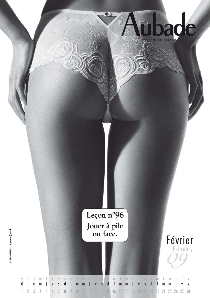 женское белье Aubade - календарь на 2009 год