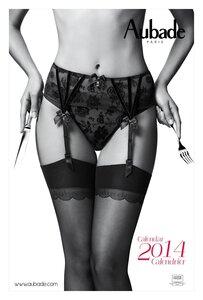 календарь сексуального нижнего белья Aubade 2014
