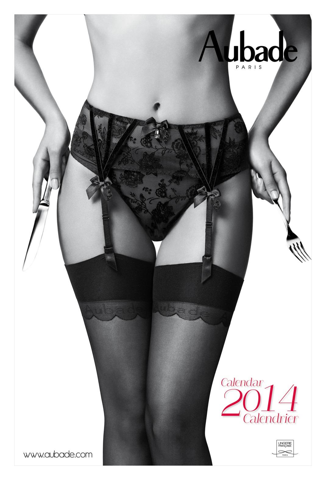 нижнее белье Aubade - календарь на 2014 год
