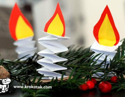 Безопасные свечи на ёлку