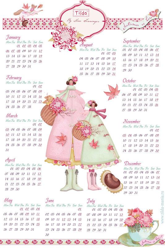 tilda calendar