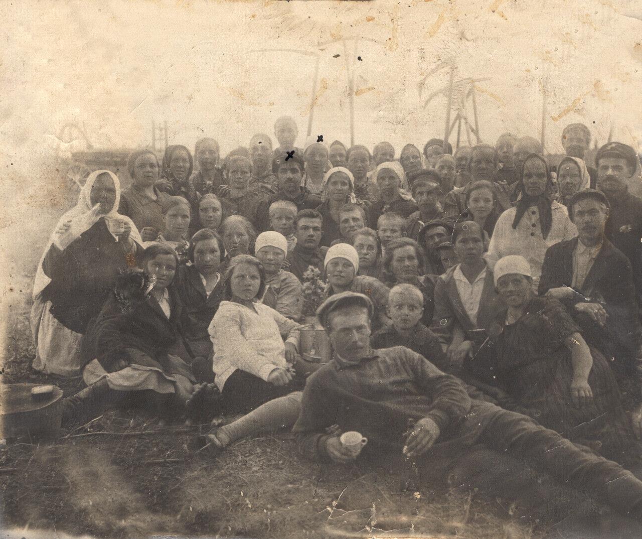 Сенокос коммуной (от каждого двора по два человека) в 30-е годы в деревне Харламово Солигаличского района Костромской области.