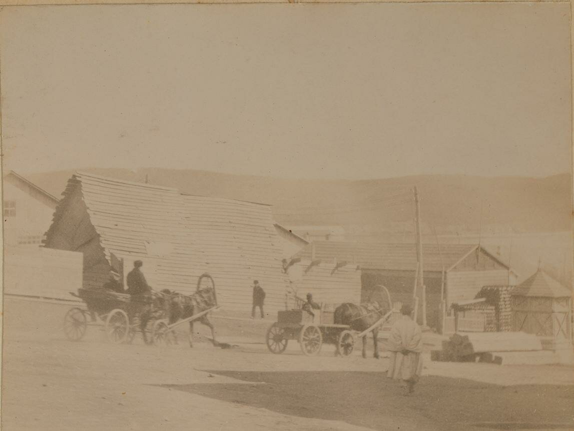 Уличная сцена. Китайская улица, 1899