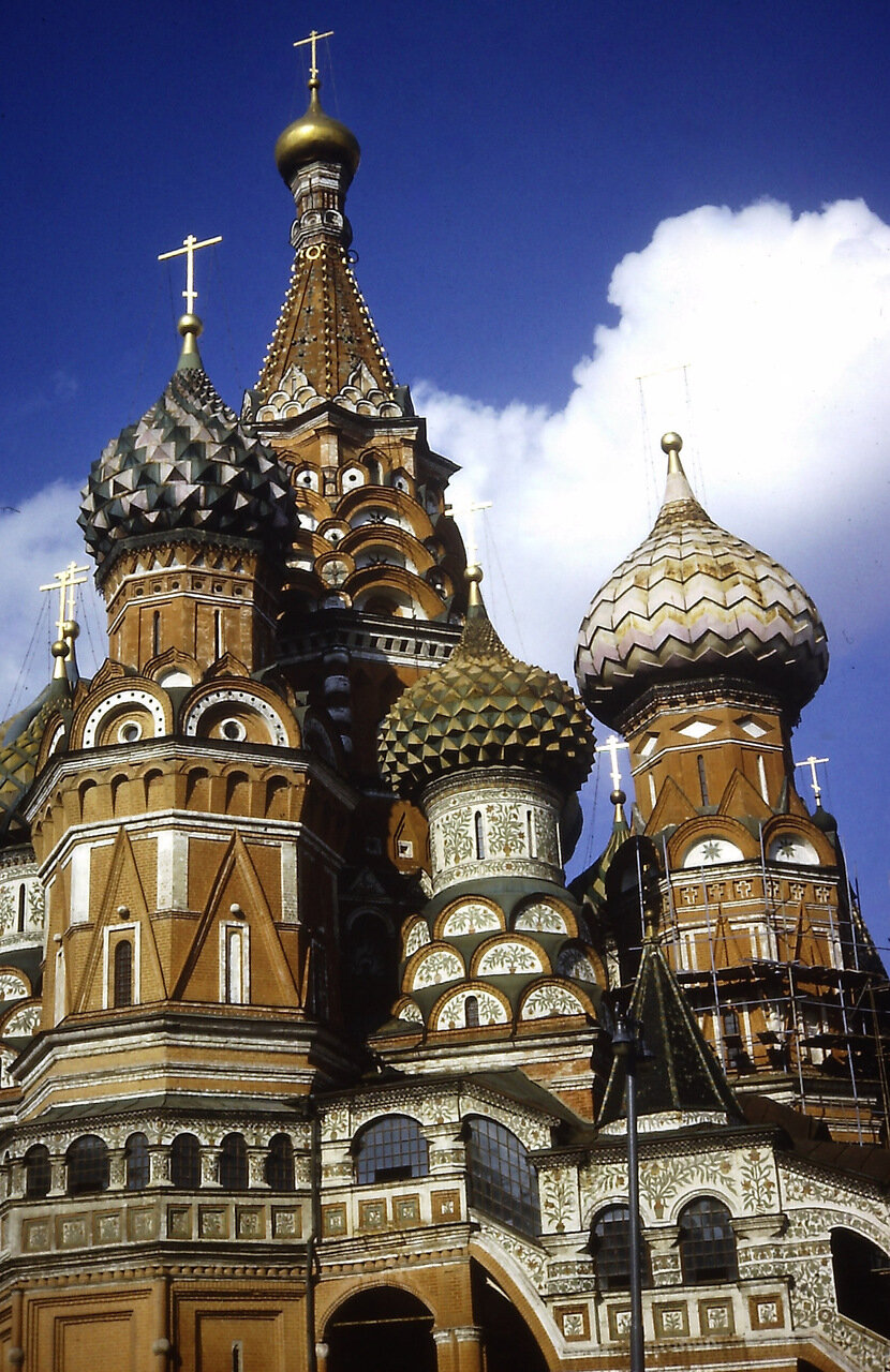 St. Basil's Cathedral, Red Square, U.S.S.R., Moscow,  August 1966