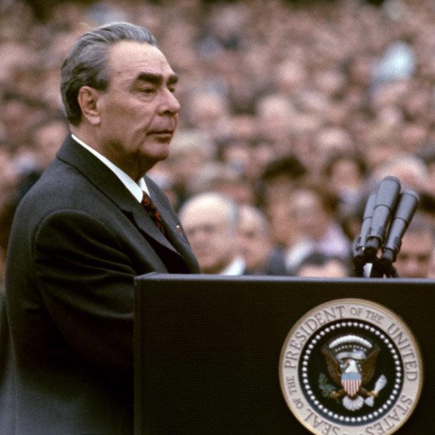 Leonid Brezhnev in USA, 1973