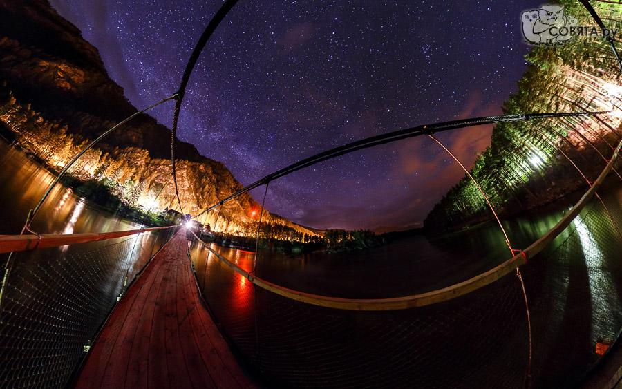Подвесной мост в селе Барангол