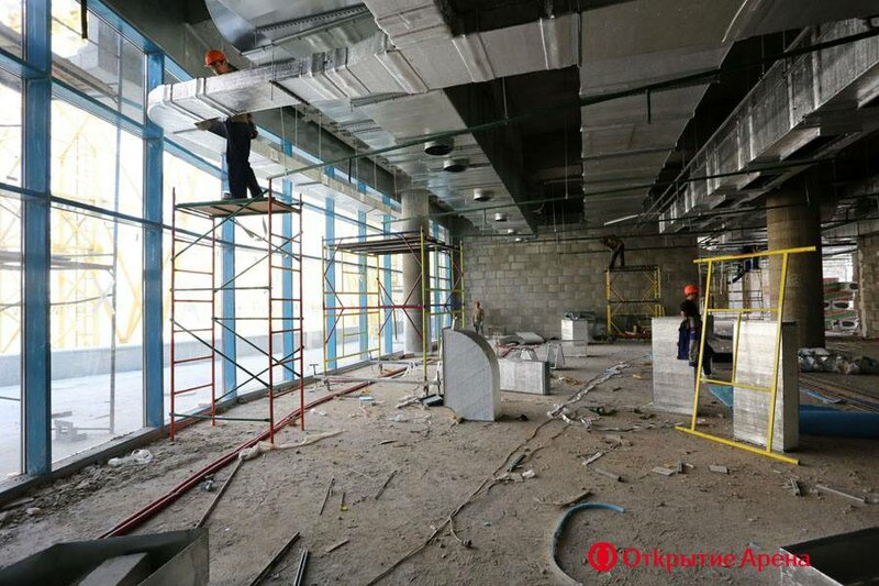 Завершено ограждение стадиона «Открытие Арена» на отметке 26 метров (Фото)