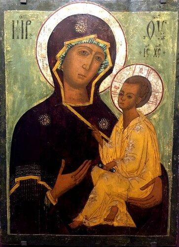 Тихвинская икона Божией Матери. Северо-Запад России, последняя треть XVII века.