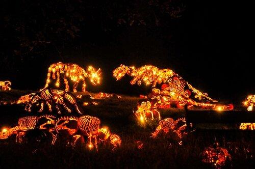 Парк фигур из светильников Джека в Нью-Йорке