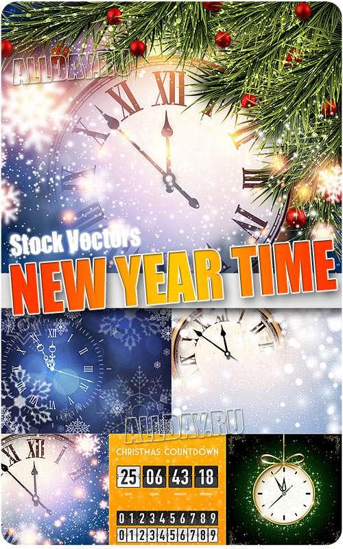 Новогоднее время - Векторный клипарт