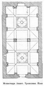 Монастырь Ахпат, трапезная, план