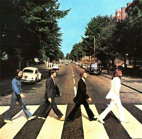 Фотообложка альбома The Beatles 'Abbey Road'