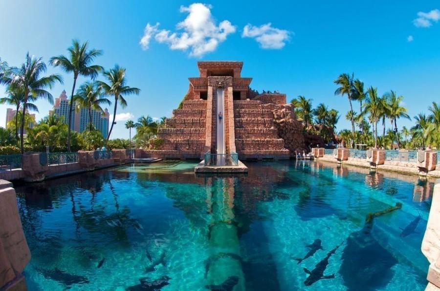 9. Горка «Прыжок веры» (Leap of Faith) высотой 18 метров (Багамы) В аквапарке Aquaventure можно спус