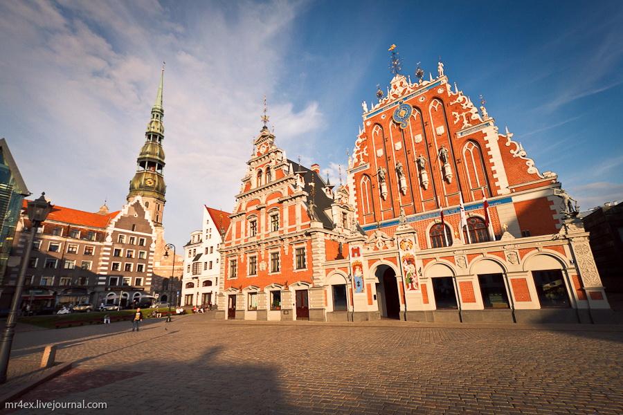 Латвия, Рига, Latvia, Riga, Старый город Риги, дом Черноголовых