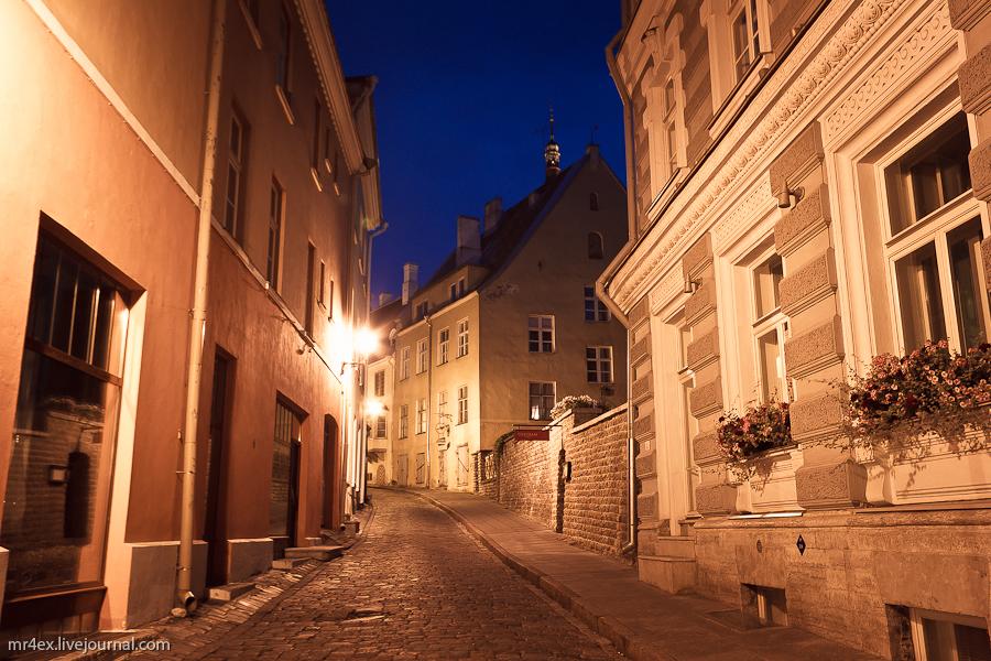 Эстония, Ночной Таллин, Старый город