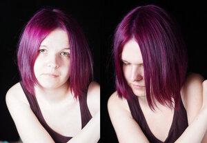 Тоника баклажан на темные волосы