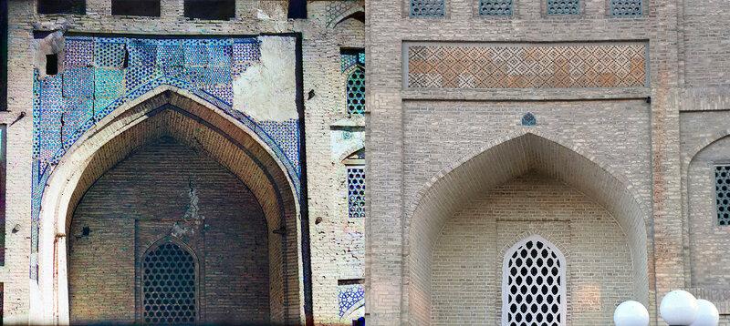 Деталь с левой стороны Медрессе Дуан-Бегги .2011 и 2017 год.№21883.jpg