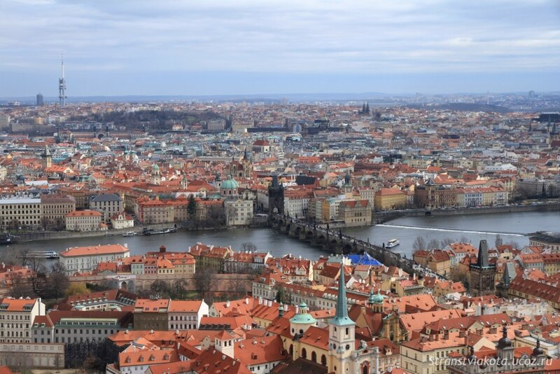 Прага, Вид с южной башни Собора Святого Вита