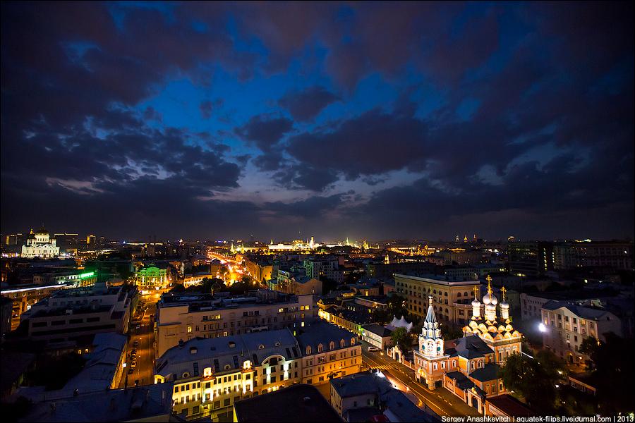 Ночная Москва с высока