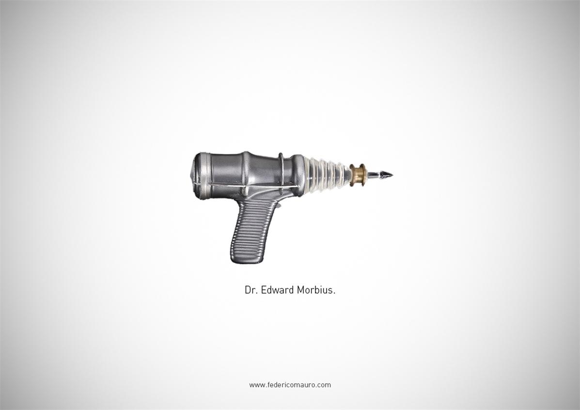 Знаменитые пушки - оружие культовых персонажей / Famous Guns by Federico Mauro - Dr. Edward Morbius (Forbidden Planet)