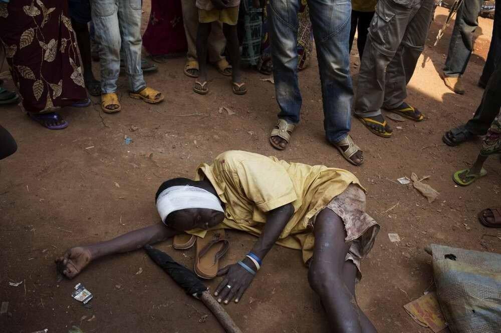 Этот мусульманин был жестоко избит после того, как вышел из стен больницы, где ему оказывали лечение