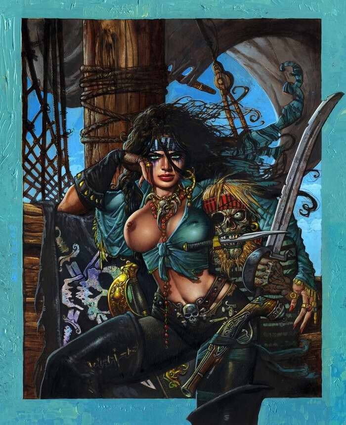 Энн Бонни (женщина-пират ирландского происхождения) - Simon Bisley