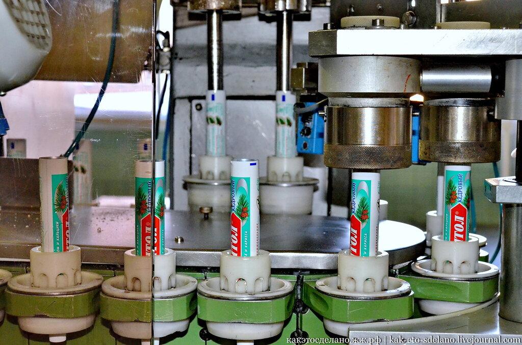 Как производят зубную пасту