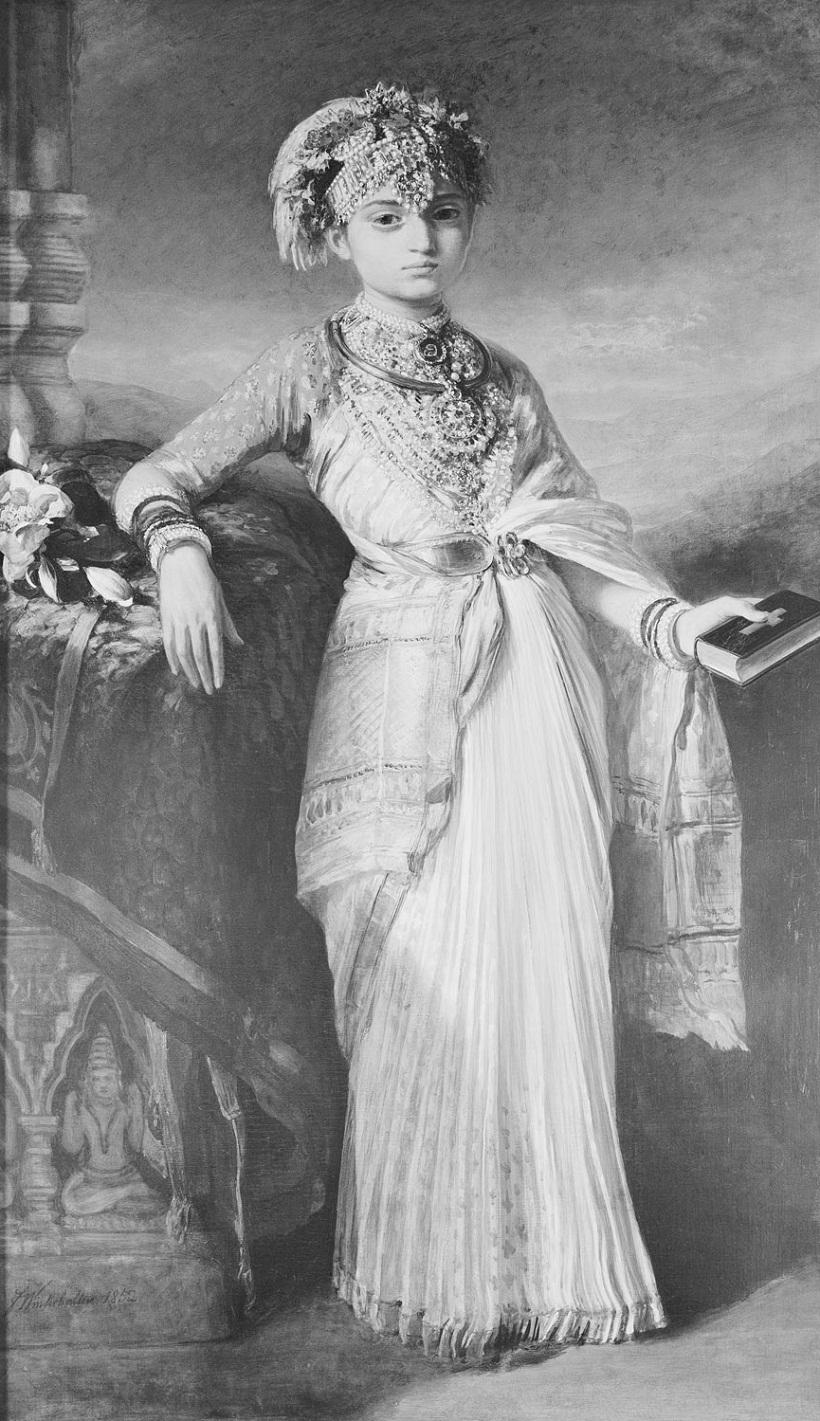 Принцесса Gouramma (1841-1864)  Подпись и дата 1852