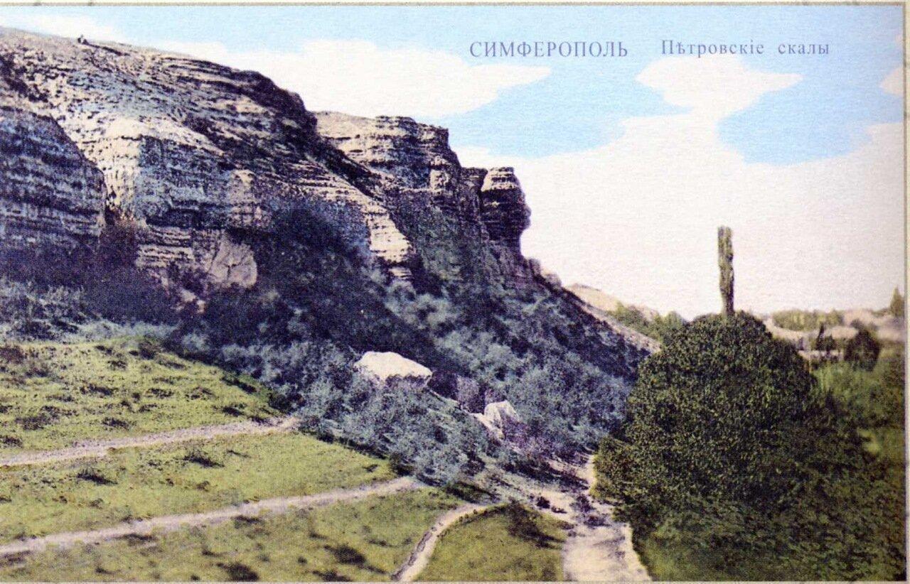 Окрестности Симферополя.  Петровские скалы